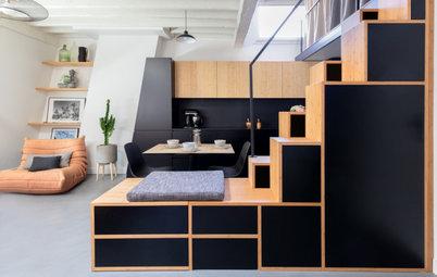 Avant/Après : Un 55 m2 optimisé grâce à un escalier multifonction