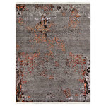 Rug & Home - Smoky Amazon 894 Gray and Olive Rug, Rectangle 8'x10' - Rug and Home is reinventing traditional motifs with creative colorations and a smoldering blend of smoky hues. These designs give the effect of a rug that has been walked on and lovingly worn in certain areas  almost like your favorite pair of blue jeans! These work well in both modern as well as transitional spaces  distinctive and an unquestionable statement maker. Hand knotted from luxurious wool and/or bamboo viscose and infused with de-saturated colors  they are sure to create a sense of awe!