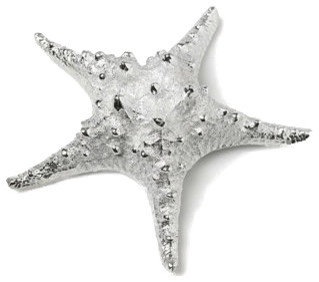 Silver Starfish Resin Replica Accent   Bathroom Accessories
