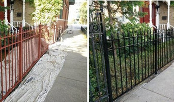 Metal fence and stairs painting