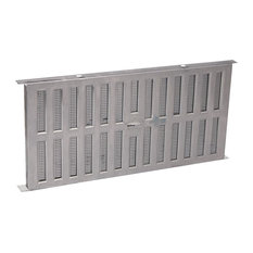 Air Vent Fa109000 Foundation Vent With Slider, Aluminum, Mill Finish