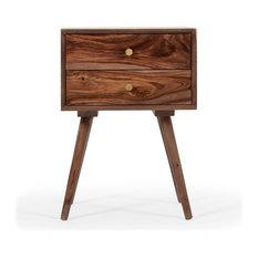Draper 2-Drawer Wooden Nightstand