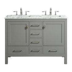 "Eviva Aberdeen 48""  Gray Bathroom Vanity"
