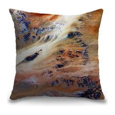 """Terkezi Oasis - USGS Earth as Art"" Pillow 18""x18"""