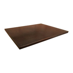 """Premier Copper Products 30"""" x 24"""" Rectangle Hammered Copper Table Top"""