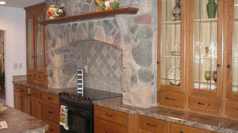 Hand Laid Brick and Stone Hearths