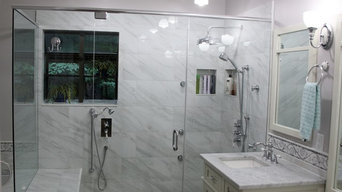 Ultra Luxury White Marble Spa Shower with 6 Body Sprays