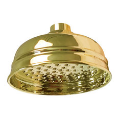 Perrin and Rowe 5-in Single Function Shower Head in Inca Brass