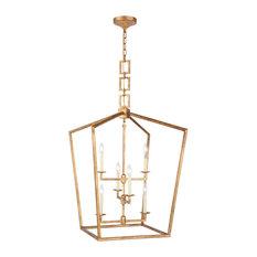 Denmark Collection 6-Light Golden Iron Finish Chandelier
