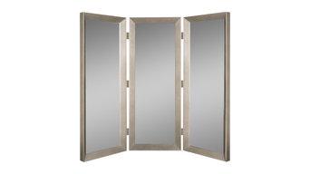 """Montecito Black Wall Mirror 22.75""""x72.75"""", Silver"""