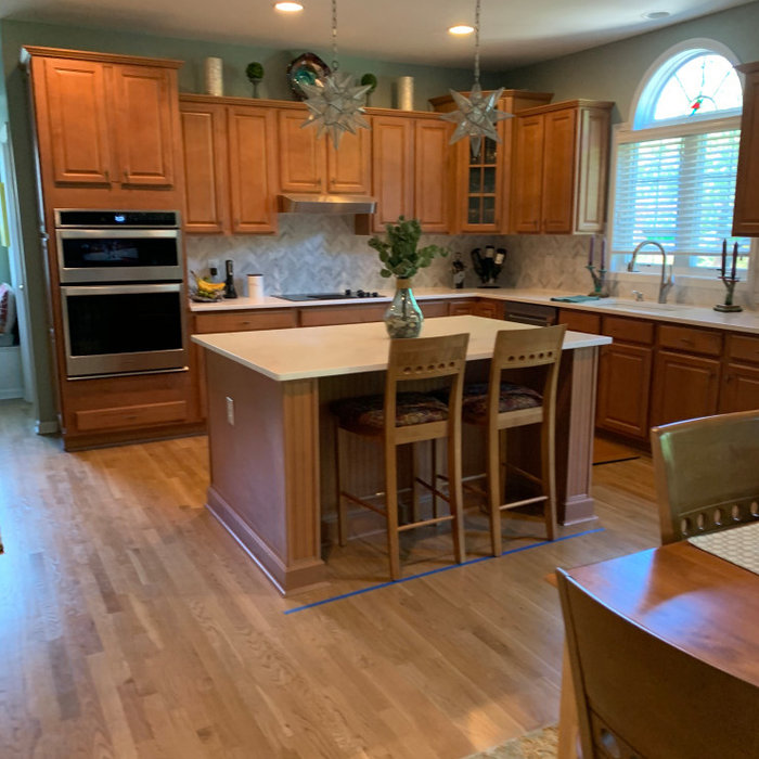 Kitchen cabinets before and after!