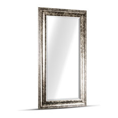 Lena Large Rectangular Antiqued Silver Framed Wall/Vanity Mirror