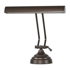 12 Inch Shade LED Piano Desk Lamp, Mahogany Bronze
