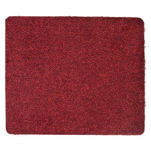 Medium Solid Cotton Rug, Red, 75x60 cm