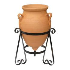 Ceramic Decorative Urn With Stand , Baldaia Terracotta Planter, 45x70 cm