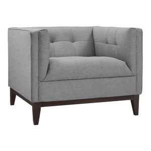 Modway Serve Fabric Arm Chair, Light Gray
