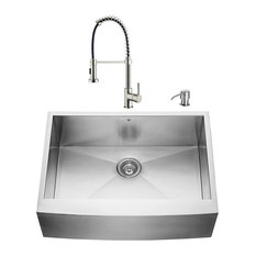 vigo industries vigo farmhouse stainless steel kitchen sink and faucet set 30 - Ada Kitchen Sink