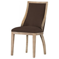 Taylor Fabric Chair, Set of 2, Mochaccino Brown