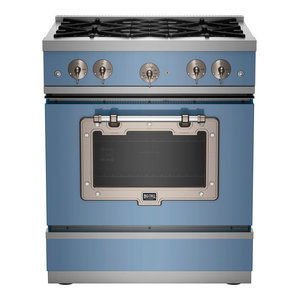 1900 Series Classic Stove, French Blue With Satin Nickel Trim