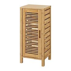 1-Door Floor Cabinet, Natural Finish