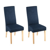 Versailles Upholstered Dining Chairs, Blue, Set of 2