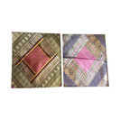 Mogulinterior - Bohemian Decor Toss Pillow Sham Vintage Silk Sari Border Patchwork Cushion Cover - Pillowcases and Shams