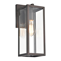 CHLOE Lighting Richard Transitional 1-Light Rubbed Bronze Outdoor Wall Sconce