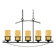 Onyx chandeliers houzz quoizel quoizel kyle 5 light 40 linear chandelier with onyx pillar candle shades aloadofball Gallery
