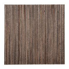 "16.54""x16.54"" Linea Grey wash Teak Wall Tiles, Set of 6"