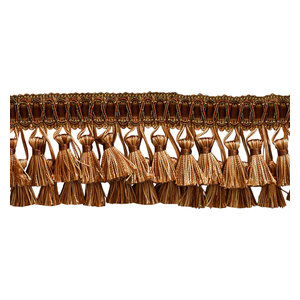 Black Elaborate 3 Two Tier Tassel Fringe Sold by The Yard Silver Grey