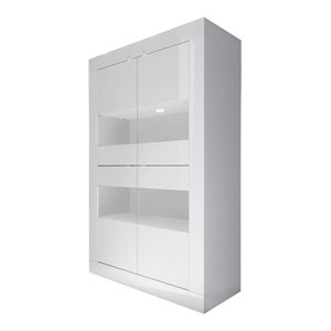 Dolcevita Wide Large Storage Cabinet, White Gloss