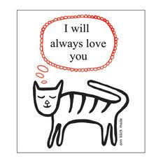 Swedish Dishcloth, Cat, Cat With I Love You