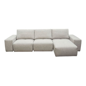3-Seater Chaise Sectional with Adjustable Backrests