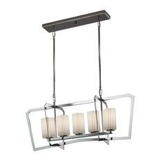 Justice Design Group POR-8015-10-PLET-LED5-3500 Porcelina Chandelier