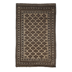 """Tribal, Hand Knotted Area Rug, 5'7""""x8'10"""""""