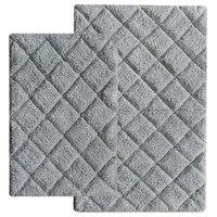 Bath Rugs, 2-Piece Set, Tan, Gray