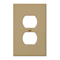 Elan Cast 1-Duplex Wall Plate, Brushed Bronze