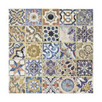 "12.5""x12.5"" Azorin Ceramic Floor and Wall Tile, D��_��__cor, 12.5""x12.5"""