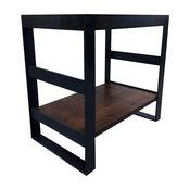 "Providence _ Open Frame Steel Bath Vanity, Blackened, 36""x22"", Single Shelf, Bas"