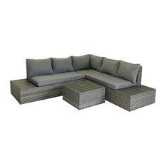 Charles Bentley Rattan and Plywood Corner Lounge Set