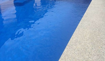 DS Grinding Services: Honed Concrete with infinity pool surround