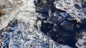 Abstract Black Ice - Metal Print