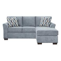 Weaver Sleeper Sofa Chaise Anna Blue Queen