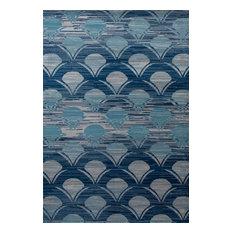 "Seaport Waves Blue 3'11""x5'7"" Area Rug"