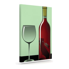 kess inhouse thomas fuchs california wine green red wrapped art canvas 12 alpine wine design outdoor