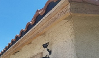 Garage Trim Before and After Las Vegas NV