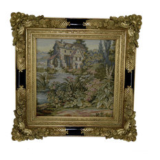 Fine Authentic Italian Tapestry Country Side House Framed Scenery