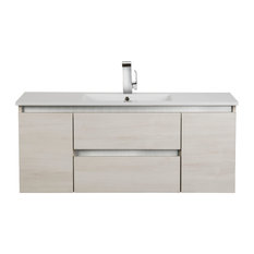 Silhouette Sleek Collection 48-inch Wall Mount Vanity 2 Doors 2 Drawers With Top