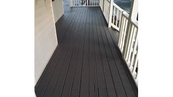 House Wash & Deck Cleaning with Pickets painted & deck Boards Stained