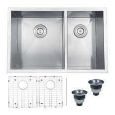 Small Double Sink Kitchen Most popular small double bowl kitchen sink houzz for 2018 houzz ruvati ruvati rvh7200 undermount 16 gauge 29 kitchen sink double bowl kitchen sinks workwithnaturefo